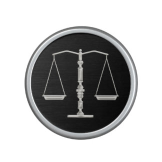 Personalizable Scales of Justice Bluetooth Speaker