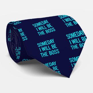 Personalizable seré algún día Boss Corbata Personalizada