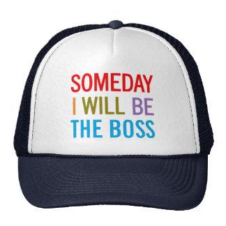 Personalizable seré algún día Boss Gorras De Camionero
