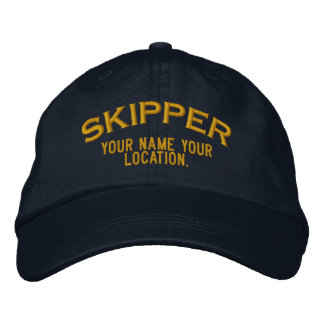 Personalizable Skipper Hat Embroidered Hat