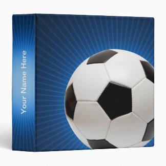 Personalizable Soccer | Football 3 Ring Binders