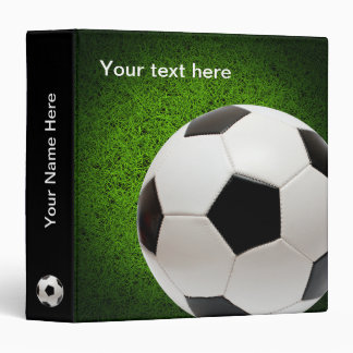 Personalizable Soccer | Football on green grass Binder