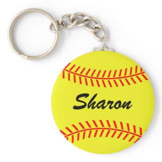 Personalizable softball keychains