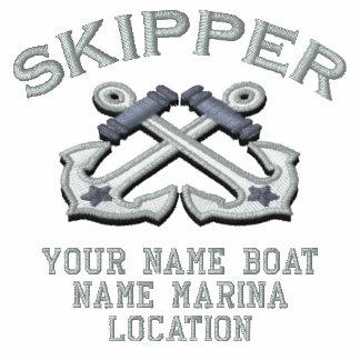 Personalizable su capitán ancla el bordado sudaderas embordadas personalizadas