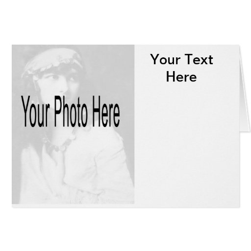 Personalizable - su foto y texto tarjeton