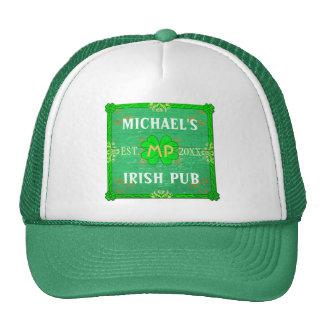 Personalizable su verde irlandés conocido del Pub Gorras