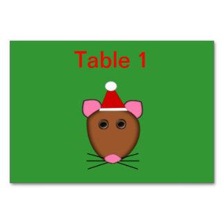 Personalizable Tablecard del ratón de las Felices