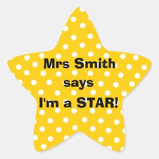 Personalizable Teacher stickers - I m a star