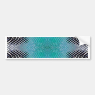 Personalizable Teal Black Optical Blur Illusion Bumper Sticker