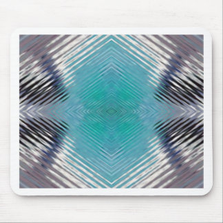 Personalizable Teal Black Optical Blur Illusion Mouse Pad