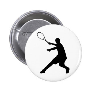 Personalizable tennis pinback button