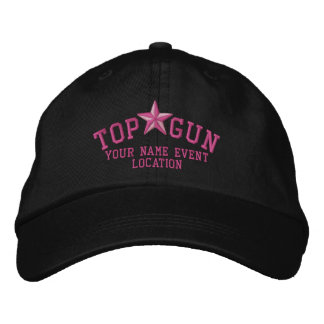 Personalizable Top Gun Star Embroidery Embroidered Hat