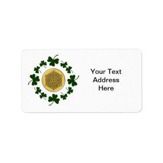 ¡PERSONALIZABLE!  Tréboles - Celtic irlandés del Etiquetas De Dirección