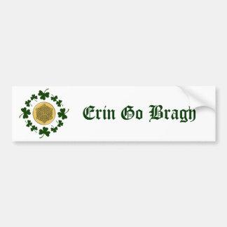 ¡PERSONALIZABLE!  Tréboles - Celtic irlandés del o Etiqueta De Parachoque