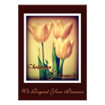Personalizable tres tulipanes que casan la invitac anuncios personalizados