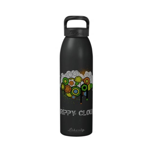 Personalizable Trippy de la nube Botella De Agua Reutilizable