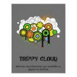 Personalizable Trippy de la nube Invitación 10,8 X 13,9 Cm