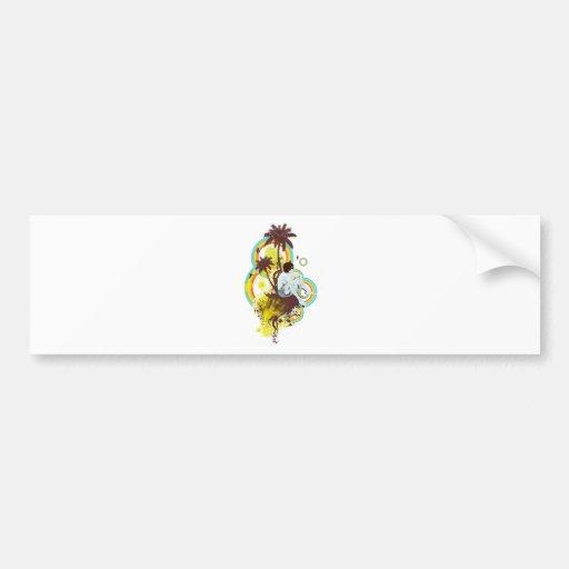 Personalizable tropical etiqueta de parachoque