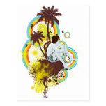 Personalizable tropical postales