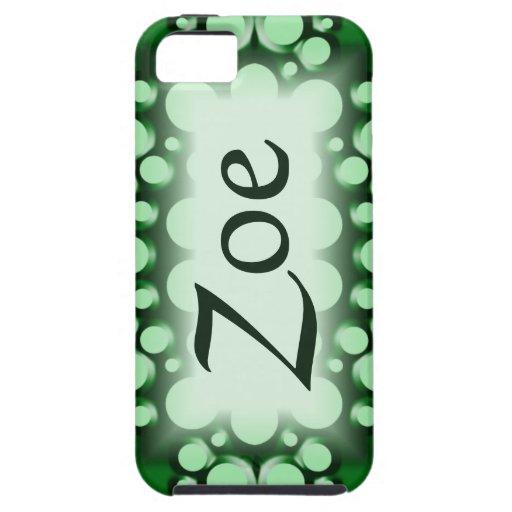 Personalizable verde de la burbuja iPhone 5 funda