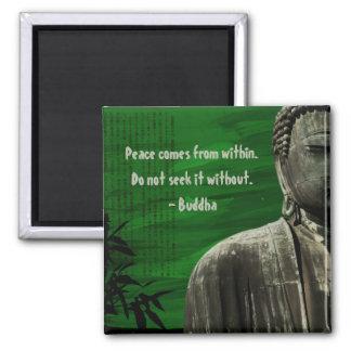 Personalizable verde del imán de Buda