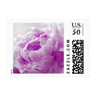 Personalizable Violet Orchid Peony Postage Stamps