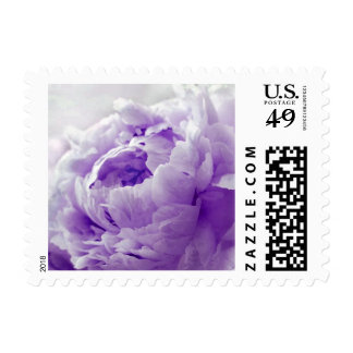Personalizable Violet Peony Postage Stamps
