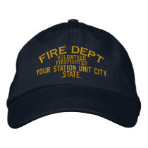 Personalizable Volunteer Firefighter Hat