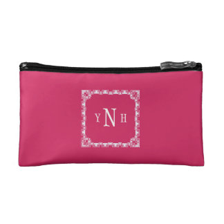 Personalizable with three-letter Monogram Cosmetic Bag