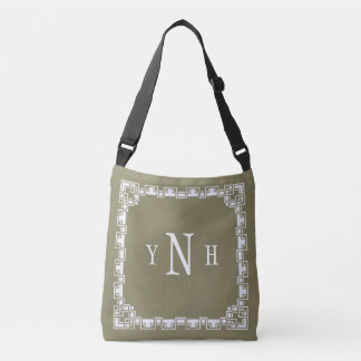 Personalizable with three-letter Monogram Crossbody Bag