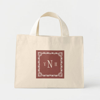 Personalizable with three-letter Monogram Mini Tote Bag