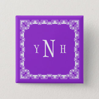 Personalizable with three-letter Monogram Pinback Button