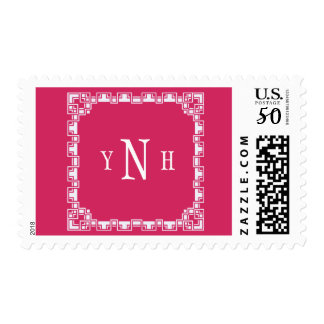 Personalizable with three-letter Monogram Postage
