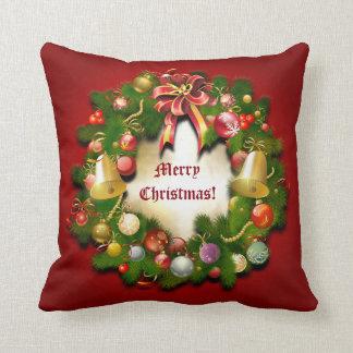 Personalizable Xmas Wreath Pillow
