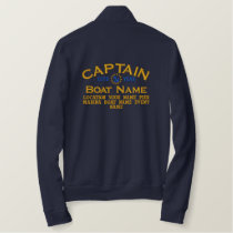 Personalizable YEAR and Names Captain Yacht Flag Embroidered Jacket
