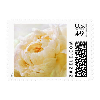 Personalizable Yellow Peony Postage Stamps