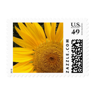 Personalizable Yellow Sunflower Postage Stamps