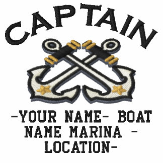 Personalizable Your Captain Anchors Embroidery Embroidered Polo Shirt