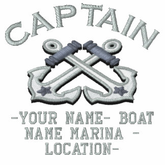Personalizable Your Captain Anchors Embroidery Polo
