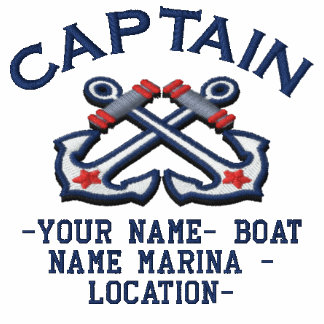 Personalizable Your Captain Anchors Embroidery Polo Shirt