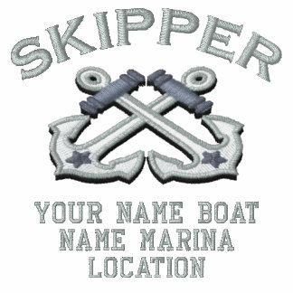 Personalizable Your Skipper Anchors Embroidery Sweatshirts