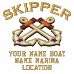 Personalizable Your Skipper Anchors Embroidery Sweatshirt