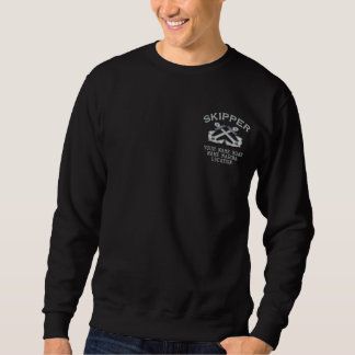Personalizable Your Skipper Anchors Embroidery Embroidered Sweatshirt