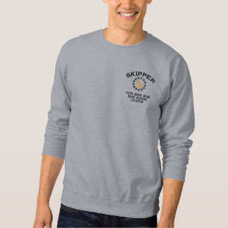 Personalizable Your Skipper Yacht Flag Embroidery Embroidered Sweatshirt