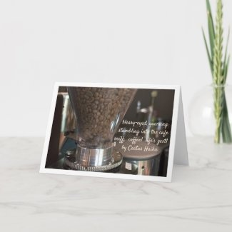 Personalizable Zest Coffee Haiku Card