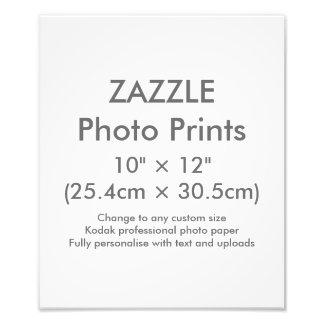 """Personalizado 10"""" de Zazzle × 12"""" plantilla de la Fotografías"""