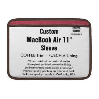 """Personalizado 11"""" café y Fuschia de la manga de Fundas MacBook"""