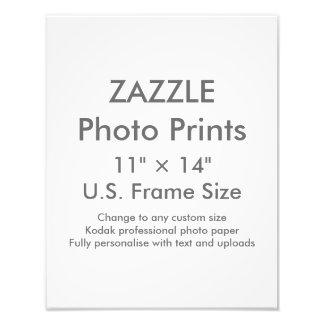 """Personalizado 11"""" de Zazzle × 14"""" tamaño de Fotografías"""