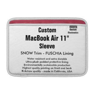 "Personalizado 11"" nieve de la manga de aire de funda para macbook air"
