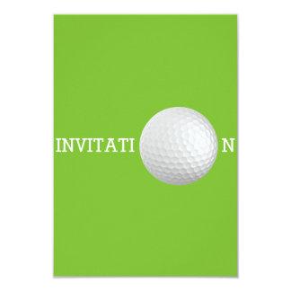 """Personalizado 12,7 cm x de la pelota de golf 8,9 invitación 3.5"""" x 5"""""""